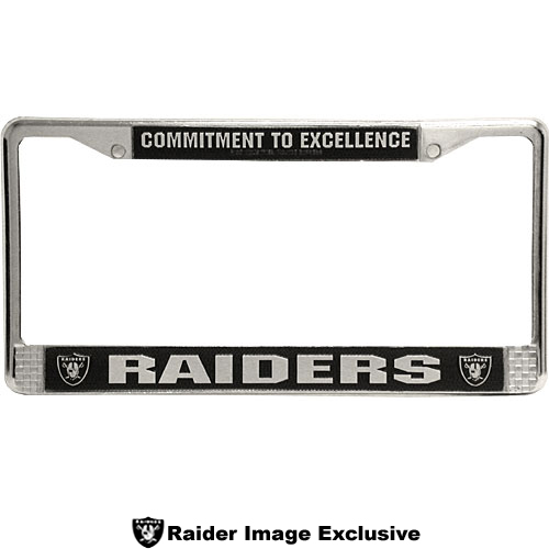 Colorful Raiders License Plate Frames Festooning - Frames Ideas ...