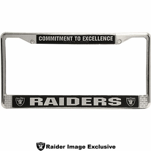 Oakland Raiders Chrome Commitment to Excellence License Frame - Click to enlarge