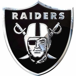 Oakland Raiders Chrome Team Logo Emblem