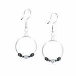 Oakland Raiders Circle Hoop Earrings