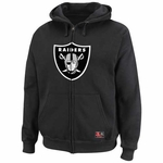 Oakland Raiders Classic Full Zip Black Fleece