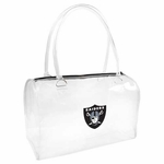 Oakland Raiders Clear Bowler Bag