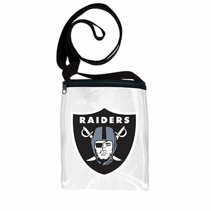 Oakland Raiders Clear Game Day Pouch - Click to enlarge