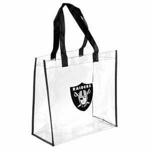Oakland Raiders Clear Reusable Bag - Click to enlarge