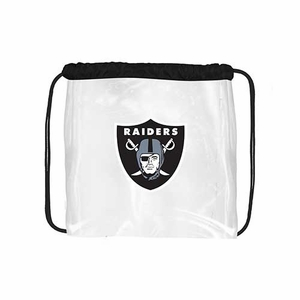 Oakland Raiders Clear String Bag - Click to enlarge