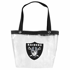 Oakland Raiders Clear Zip Tote - Click to enlarge