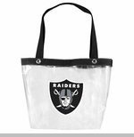 Oakland Raiders Clear Zip Tote