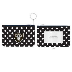 Oakland Raiders Coin Purse Key Chain - Click to enlarge