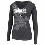 Oakland Raiders Coin Toss II Long Sleeve Tee