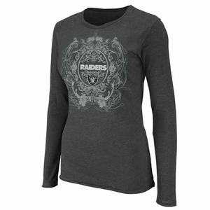 Oakland Raiders Coin Toss Long Sleeve Tee - Click to enlarge
