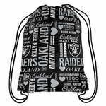Raiders Collage Back Sack