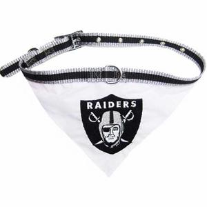 Oakland Raiders Collar Bandana - Click to enlarge