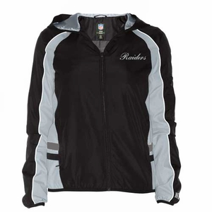 Oakland Raiders Colorblock Lightweight Ladies Jacket - Click to enlarge