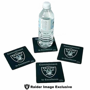 Oakland Raiders Commitment to Excellence Coasters - Click to enlarge