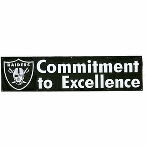 Raiders Commitment to Excellence Eight Foot Banner - Click to enlarge