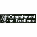 Oakland Raiders Commitment to Excellence Eight Foot Banner