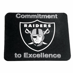 Oakland Raiders Commitment to Excellence Mouse Pad - Click to enlarge