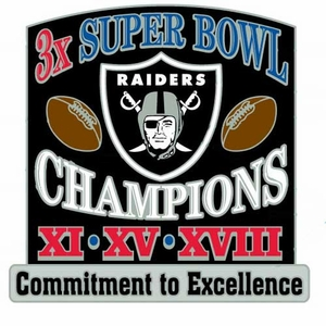 Oakland Raiders Commitment to Excellence Super Bowl Pin - Click to enlarge