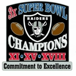Oakland Raiders Commitment to Excellence Super Bowl Pin