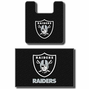 Oakland Raiders Contour Two Piece Bath Rug Set - Click to enlarge