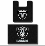 Oakland Raiders Contour Two Piece Bath Rug Set
