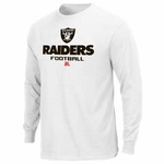 Oakland Raiders Critical Victory V White Long Sleeve Tee