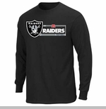 Oakland Raiders Critical Victory VIII Long Sleeve Black Tee
