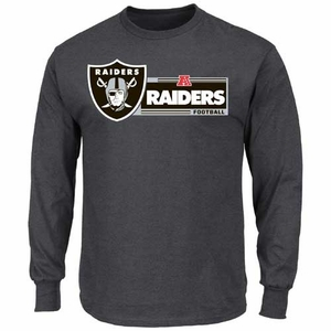 Oakland Raiders Critical Victory VIII Long Sleeve Grey Tee - Click to enlarge