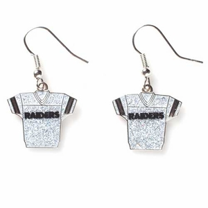 Oakland Raiders Crystal Jersey Earrings - Click to enlarge
