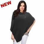 Oakland Raiders Crystal Knit Poncho