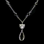 Oakland Raiders Crystal Necklace
