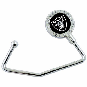 Oakland Raiders Crystal Purse Holder - Click to enlarge