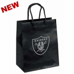Oakland Raiders Crystal Small Logo Black Gift Bag