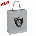 Oakland Raiders Crystal Small Logo Silver Gift Bag