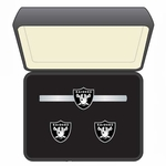 Oakland Raiders Cuff Link & Tie Bar Gift Set