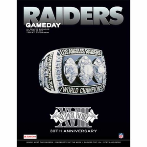 Oakland Raiders December 29th Game Day Program vs Denver Broncos - Click to enlarge