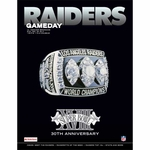 Oakland Raiders December 29th Game Day Program vs Denver Broncos