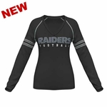 Oakland Raiders Deep Fade Route Long Sleeve Plus Size Tee