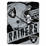 Raiders Deep Slant Micro Raschel Throw