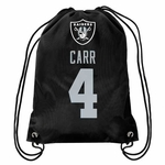 Oakland Raiders Derek Carr Drawstring Backpack