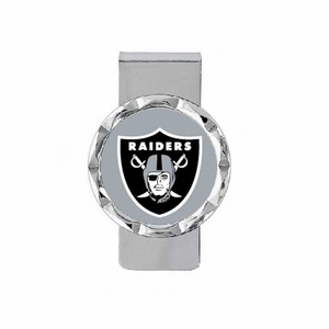 Oakland Raiders Diamond Cut Money Clip - Click to enlarge