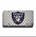 Oakland Raiders Diamond Laser Auto Tag