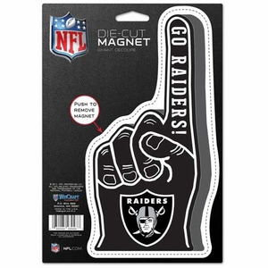 Oakland Raiders Die Cut #1 Finger Magnet - Click to enlarge