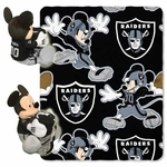 Oakland Raiders Disney Hugger with 40x50 Fleece Blanket