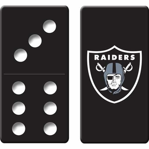 Oakland Raiders Domino Set in Metal Tin - Click to enlarge