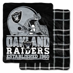 Oakland Raiders Double Cloud Throw