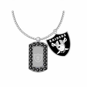 Oakland Raiders Double Mini Charm Necklace - Click to enlarge