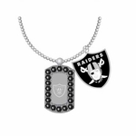 Oakland Raiders Double Mini Charm Necklace