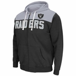 Oakland Raiders Double Team Full Zip Hood