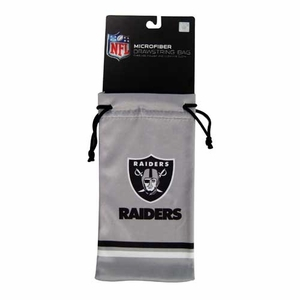 Oakland Raiders Drawstring Sunglass Bag - Click to enlarge